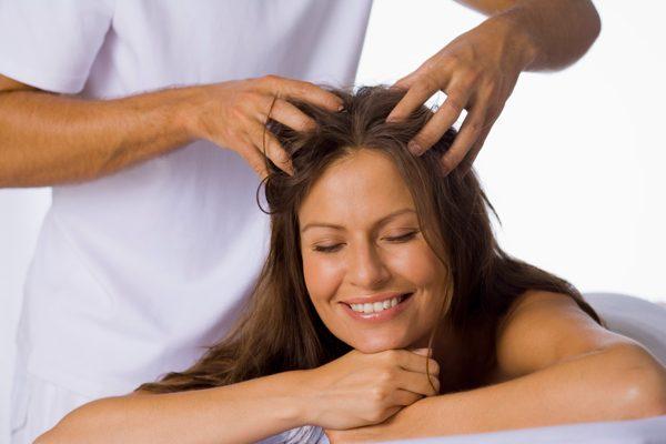 Массаж головы для улучшения роста волос. (рис. 3)