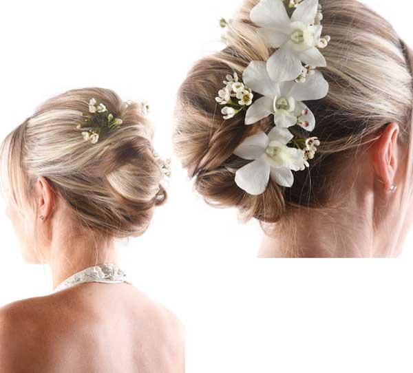 Галерея свадебных причесок для волос собранных в пучок (рис. 14)