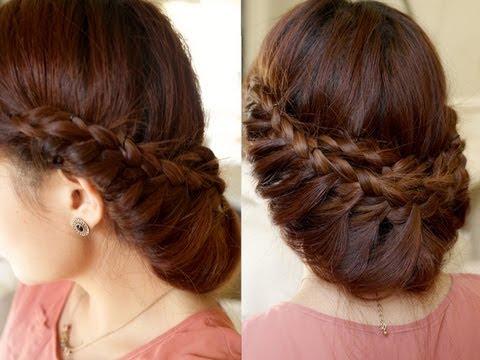 Плетение косы в стиле принцессы (рис. 5)