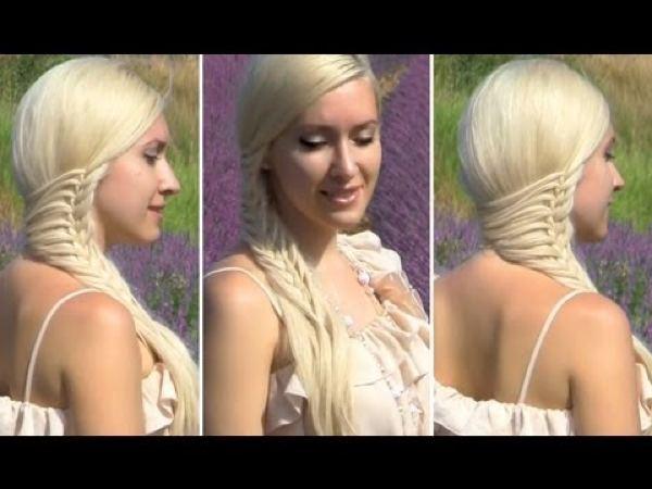 Романтическая прическа для длинных волос (рис. 3)