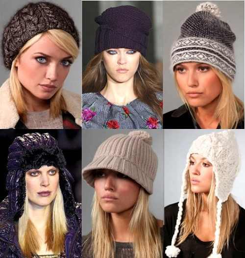 Модные вязаные шапки (рис. 3)