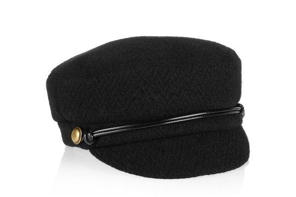 Эпатажные черные кепки от Eugenia Kim (рис. 6)