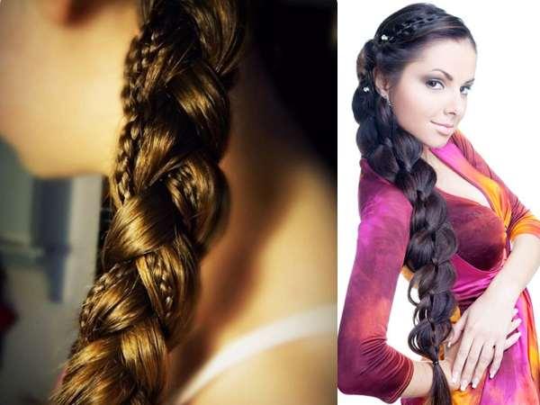 Интересный вариант косы. Коса в косе. (рис. 35)