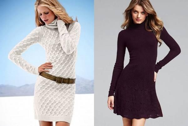 Стильные платья спицами