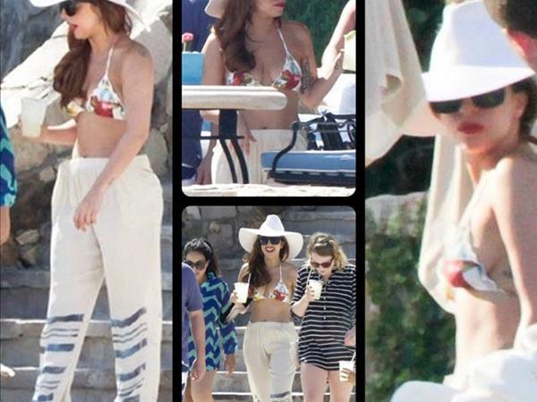 Леди Гага отдыхает в Мексике (рис. 1)