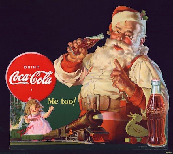 Новогодняя реклама Coca Cola (Кока-Кола) (рис. 1)