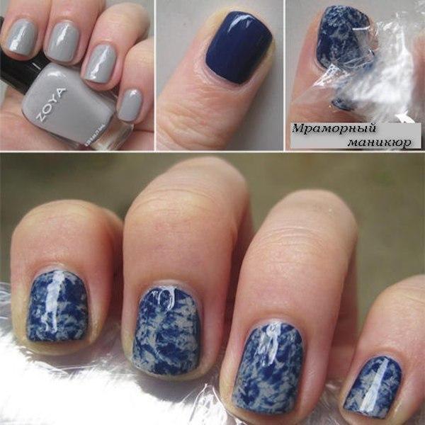 Мраморные ногти – красиво и просто! (рис. 9)