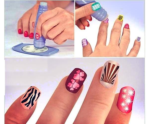 Рисунки на ногтях штампом (рис. 7)