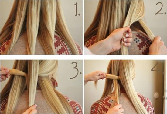 Плетение косы из 5-ти (пяти) прядей (рис. 7)
