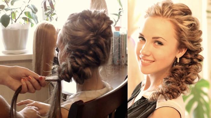 Элегантная причёска выполненная при помощи резинок (рис. 11)