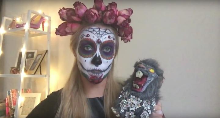 Образ Катрины на Halloween (рис. 3)