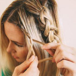 Прическа шикарной косы в фотографии (рис. 5)