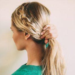 Прическа шикарной косы в фотографии (рис. 9)