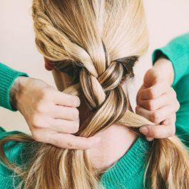 Прическа шикарной косы в фотографии (рис. 11)