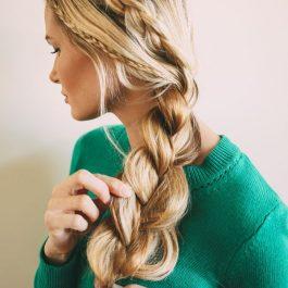 Прическа шикарной косы в фотографии (рис. 13)